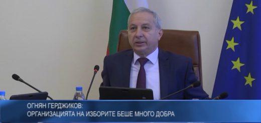 Огнян Герджиков: Организацията на изборите беше много добра