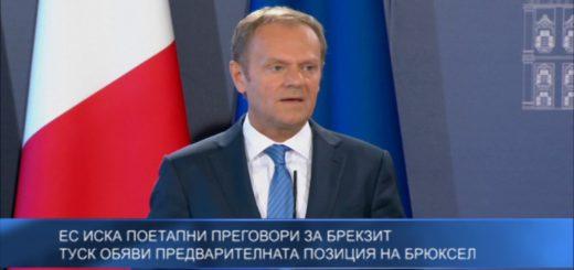 ЕС иска поетапни преговори за Брекзит – Туск обяви предварителната позиция на Брюксел