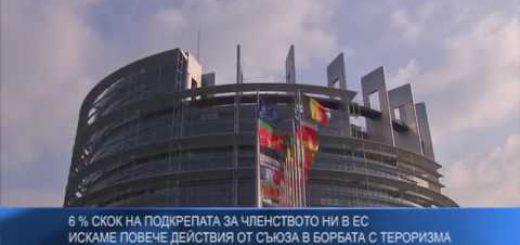 6 % скок на подкрепата за членството ни в ЕС – искаме повече действия от Съюза в борбата с тероризма