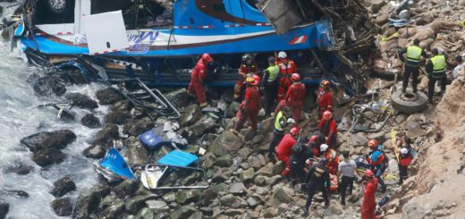 At least 25 dead as bus plunges off a cliff in Peru