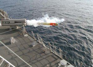 Изстрелване на торпедо от кораб