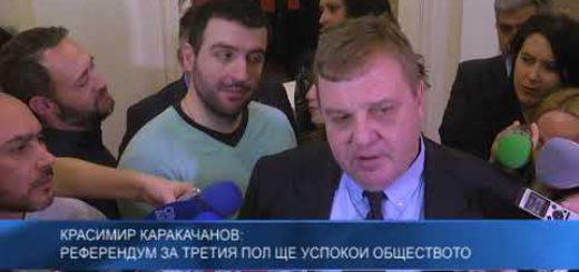 Красимир Каракачанов: Референдум за третия пол ще успокои обществото