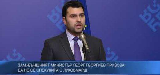 Зам.-външният министър Георг Георгиев призова да не се спекулира с Луковмарш
