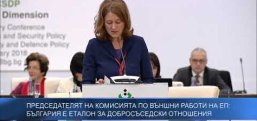 Председателят на Комисията по външни работи на ЕП: България е пример за позитивна трансформация и добросъседство