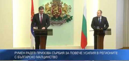 Румен Радев призова Сърбия за повече усилия в регионите с българско малцинство