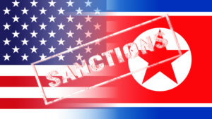 usa north korea flags, sanctions