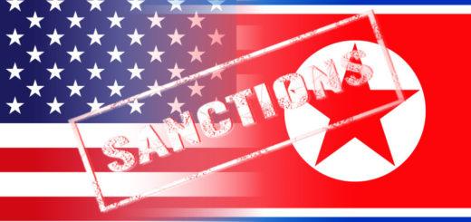usa north korea flags, sanctions