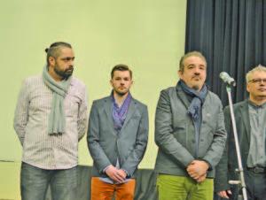 Част от творческият екип, заедно с Командарев