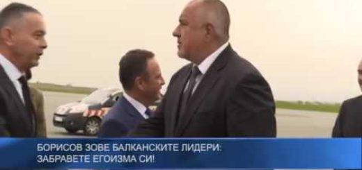 Борисов зове балканските лидери: Забравете егоизма си!
