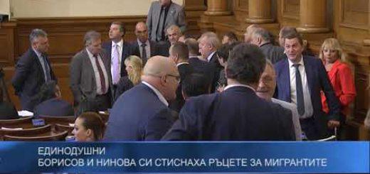 Борисов и Нинова си стиснаха ръцете за мигрантите