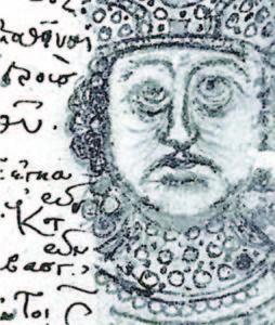 Император Лъв III (на византийския престол през 717 - 41 г.) е наричан Спасител на Европа, както и хан Тервел, и франкския майордом Карл Мартел. Рисунка от византийска хроника.