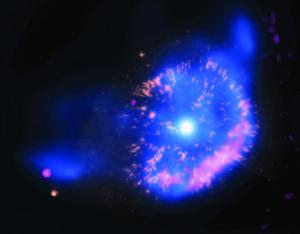 Експлозия на звезда, заснета от космическата обсерватория ''Чандра''