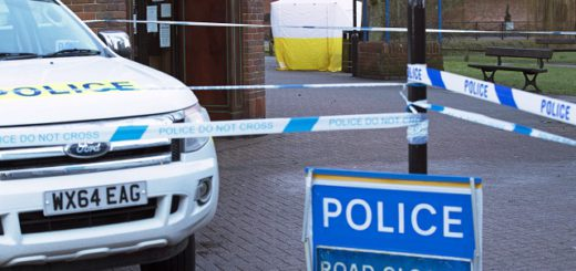 "The road is blocked near a police tent in The Maltings shopping centre in Salisbury, England Tuesday March 6, 2018 near where Sergei Skripal was found critically ill by exposure to an unknown substance. Skripal, a former Russian spy is in critical condition after coming into contact with an ""unknown substance."" Authorities did not identify the man, but the Press Association and other British media identified him Monday, March 5, as Sergei Skripal who was convicted in 2006 on charges of spying for Britain and sentenced to 13 years but was freed in 2010 in a U.S.-Russian spy swap. (Steve Parsons/PA via AP)"