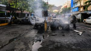 Eleven people killed and six vehicles burned in southern Mexico