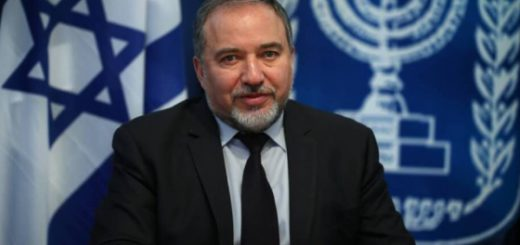Министърът на отбраната на Израел -Авигдор Либерман