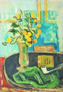 Бенчо Обрешков, Цветя, 1957, м.б. картон
