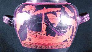 Червенофигурната  сцена 'Одисей и сирените'