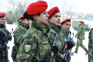 Въпреки, че плацът беше заснежен, воините демонстрираха твърда стъпка по време на тържествения марш
