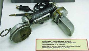 3Слушалка от военнополеви телефон от Националния политехнически музей