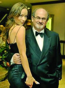 Рушди с актрисата Кейти Пери