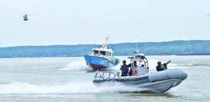 Епизоди от съвместната тренировка на ВМС и регионална дирекция 'Гранична полиция'