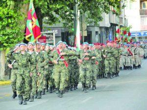 Тържествен марш на представителните роти на формирования от гарнизона