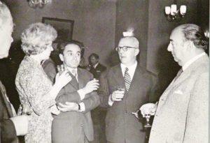 Ламар, Блага Димитрова, Валери Петров, Димитър Димов и Пабло Неруда. София, 1962 г.