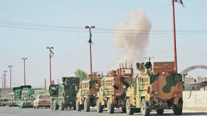 Туристически военен конвой в Сирия