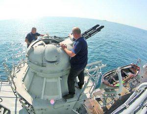 Оръжейните системи на фрегатата се поддържат в отлично състояние