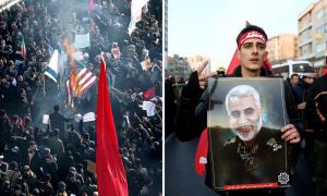 погребение на иранския генерал Касем Сюлеймани
