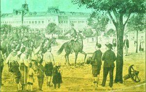 Влизането на румънските войски в Силистра, 1913 г., пропагандна картичка