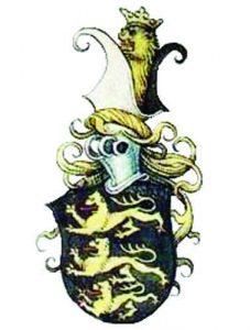 Герб на императора на България (Фружин-Шишман) по Милтенбергския гербовник  (15 век)