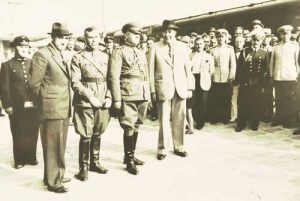 Влакът с бълг. администрация потегля за Добрич от жп гара Варна, 15 септември 1940 г.