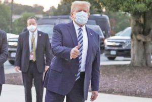 Trump Leaves Walter Reed REUTERS 01