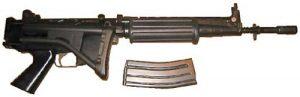 FN FNC със сгънат приклад