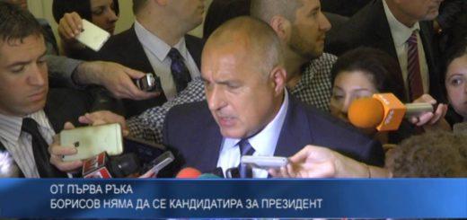 Борисов няма да се кандидатира за президент