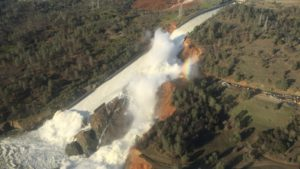 Damaged Oroville Dam spillway prompts thousands of evacuations in northern California