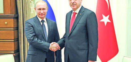Russia's President Vladimir Putin (L) shakes hands with his Turkish counterpart Tayyip Erdogan during a meeting at the Presidential Palace in Ankara, December 1, 2014. REUTERS/Mikhail Klimentyev/RIA Novosti/Kremlin (TURKEY  - Tags: POLITICS) ATTENTION EDITORS - THIS IMAGE HAS BEEN SUPPLIED BY A THIRD PARTY. IT IS DISTRIBUTED, EXACTLY AS RECEIVED BY REUTERS, AS A SERVICE TO CLIENTS