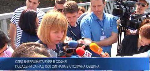 След вчерашната буря в София – подадени са над 1500 сигнала в Столична община
