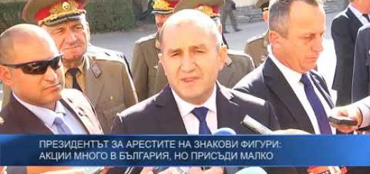 Президентът за арестите на знакови фигури: Акции много в България, но присъди малко