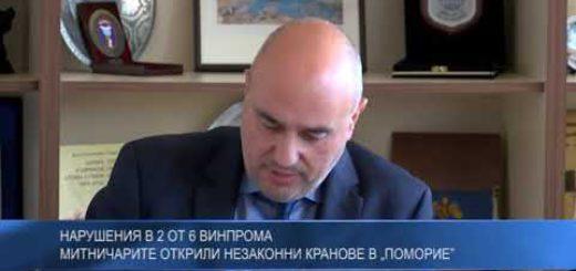 """Нарушения в 2 от 6 Винпрома – митничарите открили незаконни кранове в """"Поморие"""""""