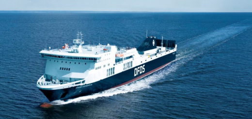 epa07063842 A handout photo made available by DFDS shipping company on 02 October 2018, showing an aerial view of the Regina Seaways ferry at an undisclosed location. Reports on 02 October 2018 state the Regina Seaways vessel with more than 300 people onboard, travelling from Kiel in Germany to Klaipeda in Lithuania is on fire at the Baltic Sea.  EPA/DFDS HANDOUT  HANDOUT EDITORIAL USE ONLY/NO SALES
