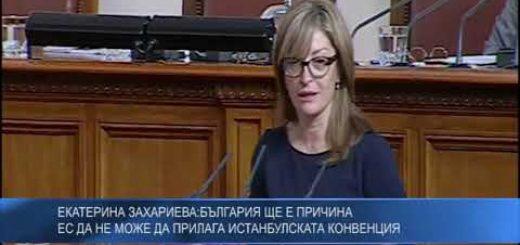 Екатерина Захариева: България ще е причина ЕС да не може да прилага Истанбулската конвенция