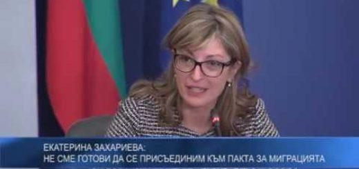 Екатерина Захариева: Не сме готови да се присъединим към Пакта за миграцията