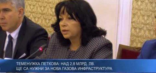 Теменужка Петкова: Над 2,8 млрд. лв. ще са нужни за нова газова инфраструктура