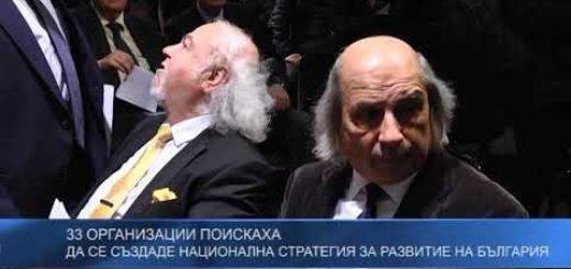 33 организации поискаха да се създаде национална стратегия за развитие на България