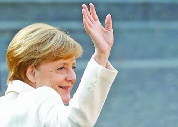 German Chancellor Angela Merkel waves during German Unification Day celebrations in Mainz, Germany, October 3, 2017.   REUTERS/Kai Pfaffenbach