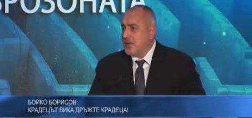 Бойко Борисов: Крадецът вика дръжте крадеца!