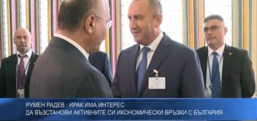 Румен Радев: Ирак има интерес да възстанови активните си икономически връзки с България