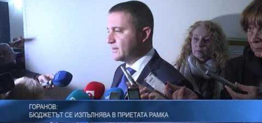 Горанов: Бюджетът се изпълнява в приетата рамка
